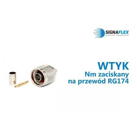 Wtyk Nm na przewód RG174