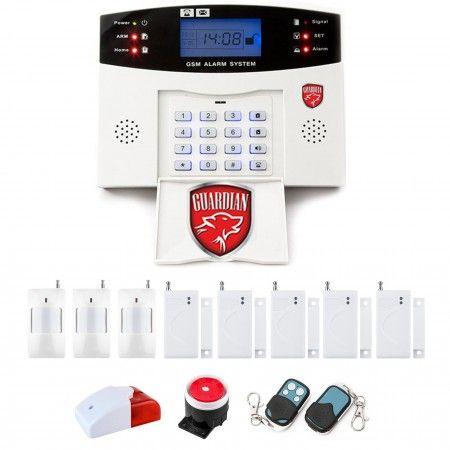 Alarm GSM LCD Guardian box + 2 PIR + 4 okno/drzwi
