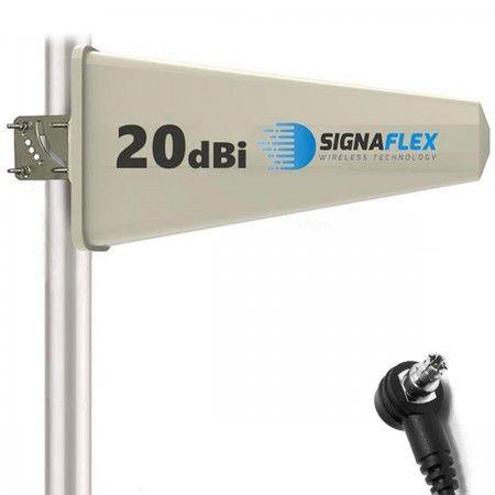 Antena Tajfun 20dBi 10m FME + konektor TS9