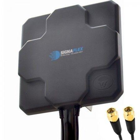 DUŻA Antena X-CROSS 2x 22DBI 4G LTE 2x5m 2xSMA zew.