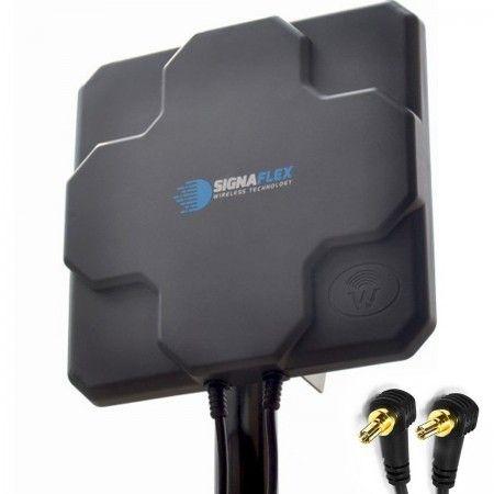DUŻA Antena X-CROSS  DUAL 2x 22dbi 4G LTE 2x 10m 2x CRC9 zew.