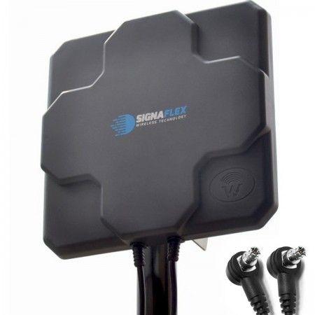 DUŻA Antena X-CROSS  DUAL 2x 22dbi 4G LTE 2x 10m 2x TS9 zew.