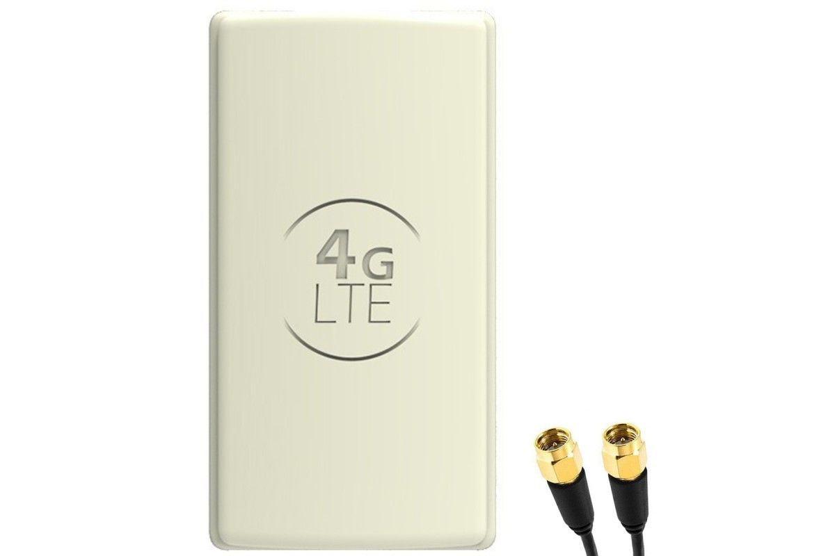 Antena 4G LTE DUAL PANEL 2x25dBi + 2x15m BIAŁA + 2x SMA