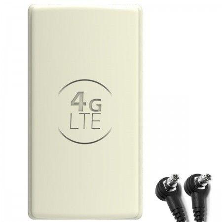 Antena 4G LTE DUAL PANEL 2x25dBi + 2x10m SZARA + 2x TS9