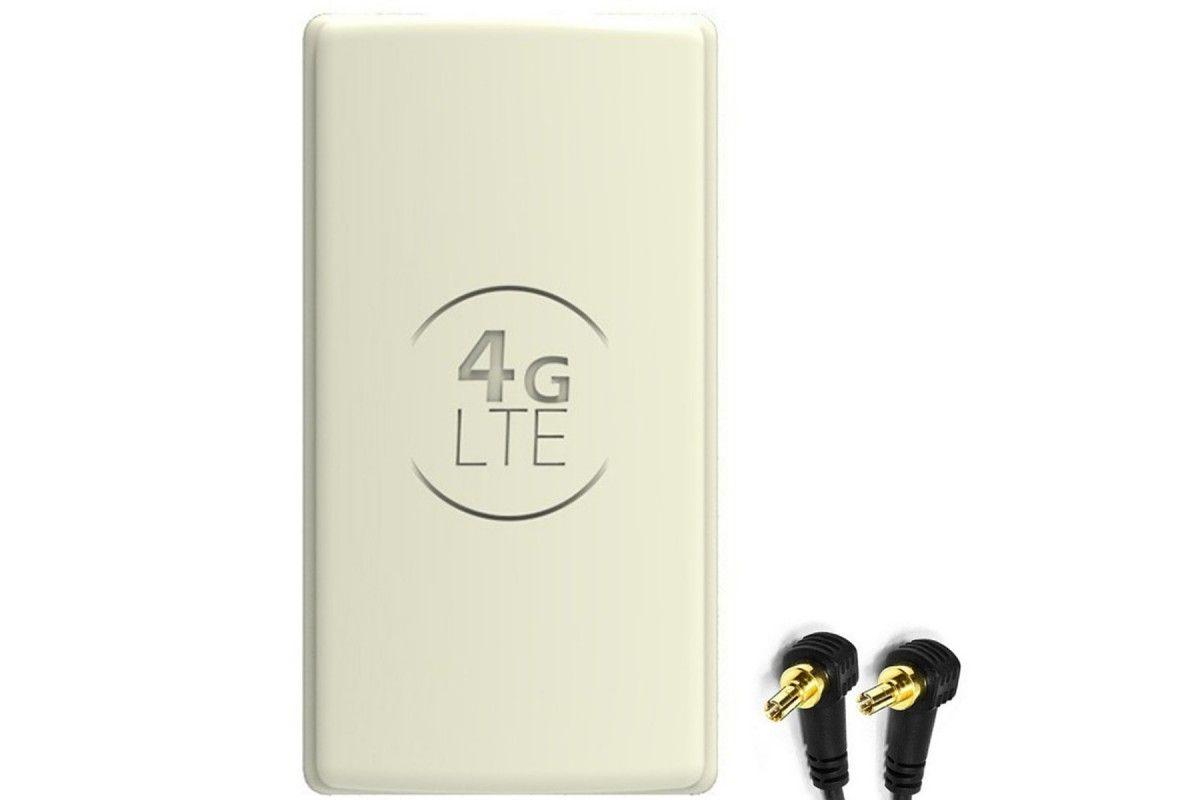 Antena 4G LTE DUAL PANEL 2x25dBi + 2x10m BIAŁA + 2x CRC9