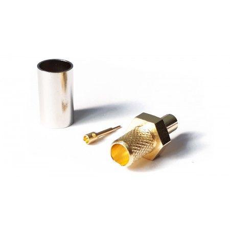 Wtyk TS9 zaciskany na przewód H155/LMR240