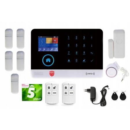 Alarm bezprzewodowy GSM GUARDIAN III 3G WIFI + 4x PIR