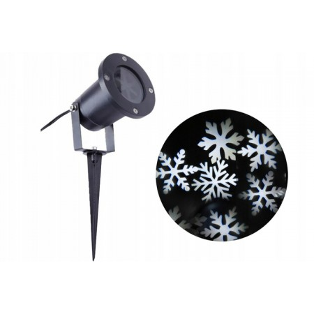 Projektor Laserowy - Płatki Śniegu
