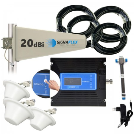 Komplet GSM/UMTS dotyk LCD Tajfun z 3x grzybek