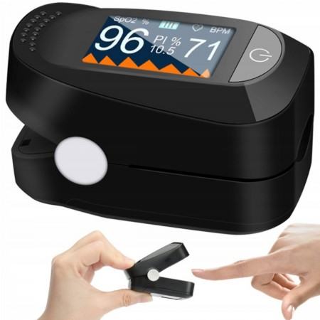 Pulsoksymetr napalcowy medyczny 3w1