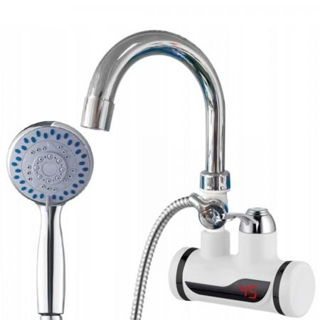 Elektryczny przepływowy ścienny podgrzewacz wody 3000W + słuchawka prysznicowa