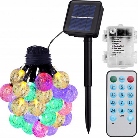 Lampki solarne 60LED RGB IP65
