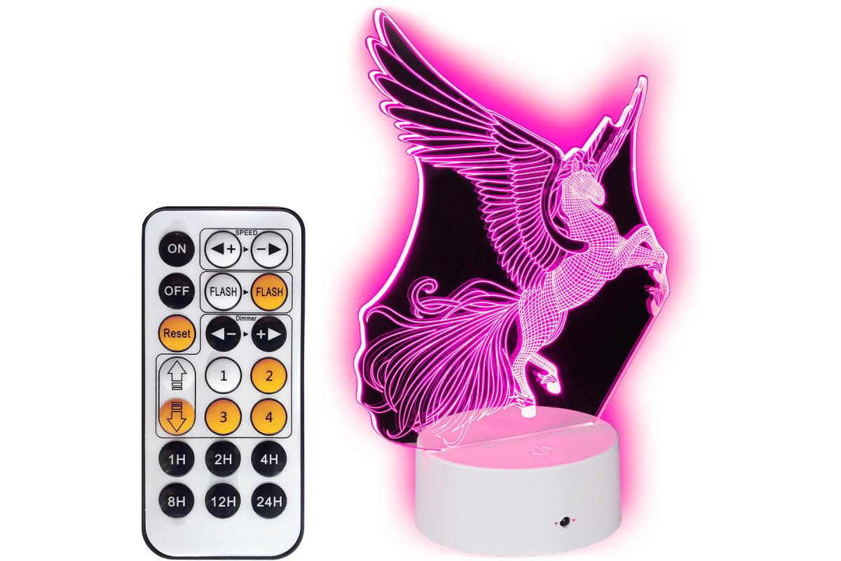 Lampka nocna 3D LED Unicorn