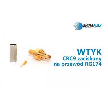 Wtyk CRC9 na przewód RG174